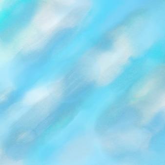 Fundo abstrato com um fundo azul da aguarela