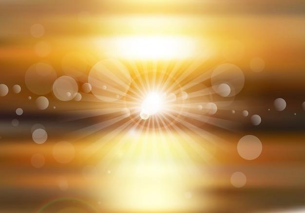Fundo abstrato com um tema do sol