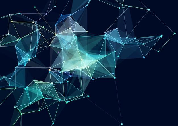 Fundo abstrato com uma conexão de rede