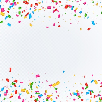 Fundo abstrato com vetor de confetes caindo
