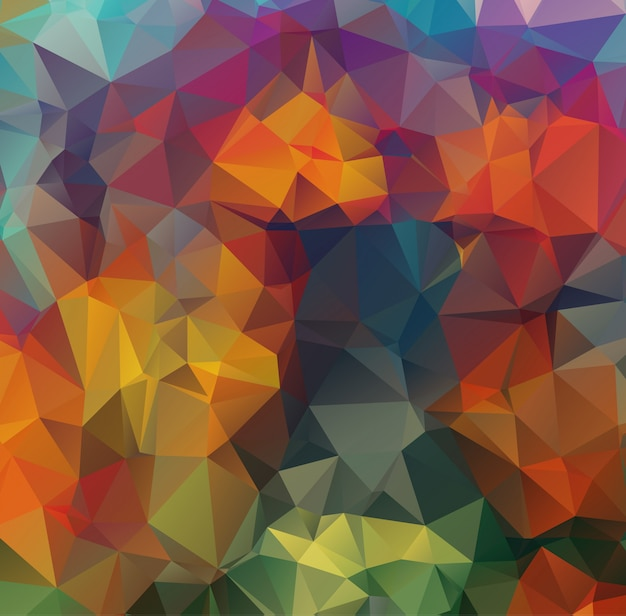 Fundo abstrato, composto por triângulos