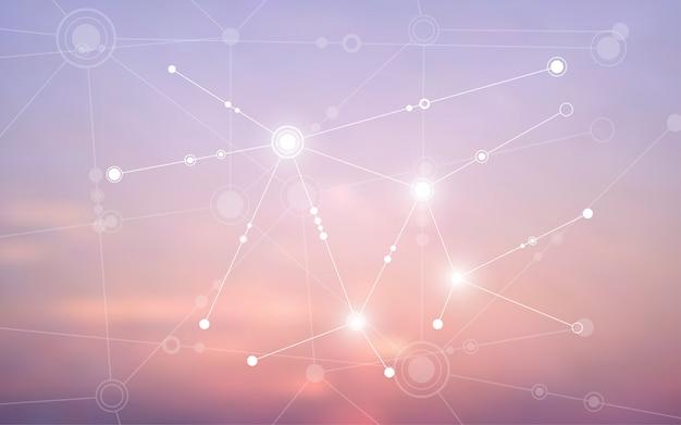 Fundo abstrato conectando a comunicação de inovação
