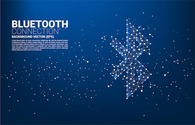 Fundo abstrato conexão bluetooth