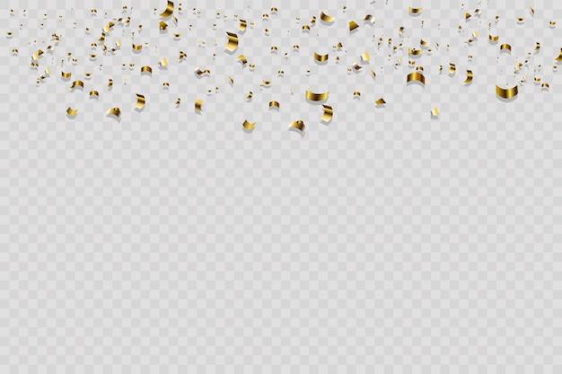 Fundo abstrato confete dourado