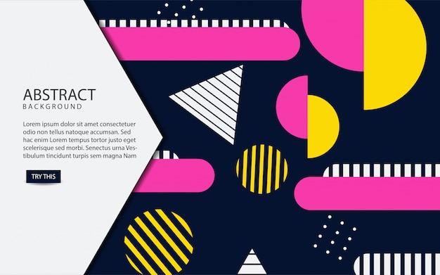 Fundo abstrato cores geométricas