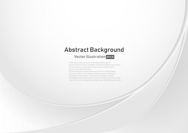 Fundo abstrato curva branca e cinza