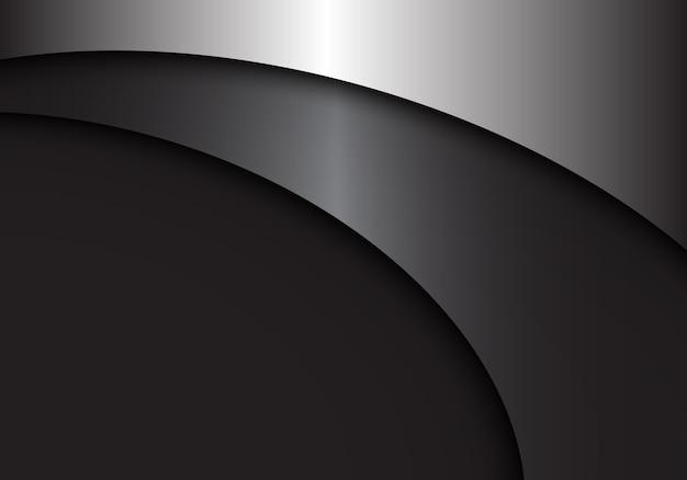 Fundo abstrato curva de metal cinza