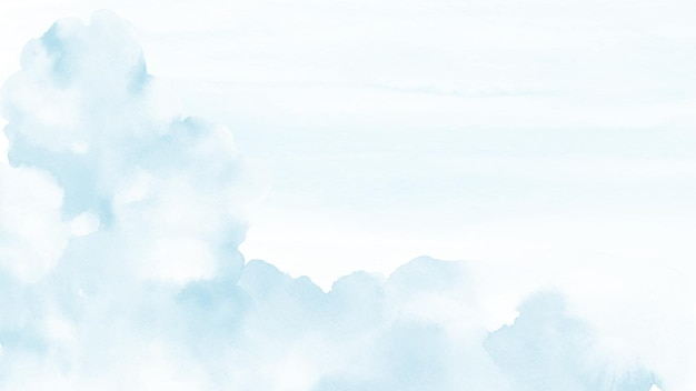 Fundo abstrato da aguarela do céu azul.