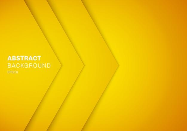 Fundo abstrato da camada do triângulo do amarelo 3d.