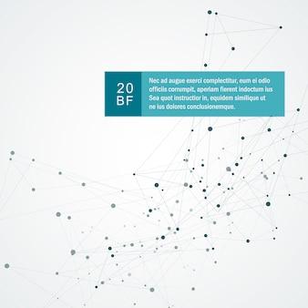 Fundo abstrato da ciência e tecnologia