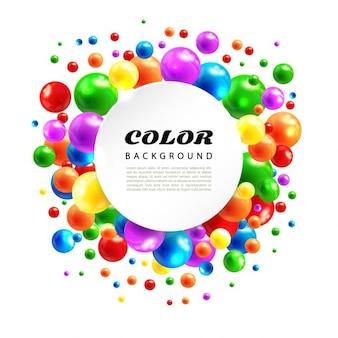 Fundo abstrato da cor das esferas de volume
