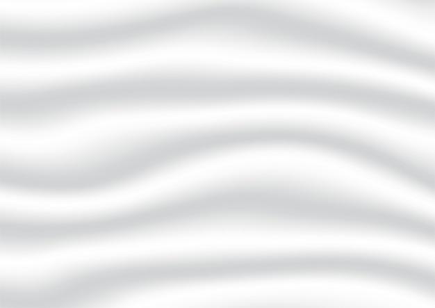 Fundo abstrato da cor do gradiente branco e cinza. tecidos de cetim e seda.