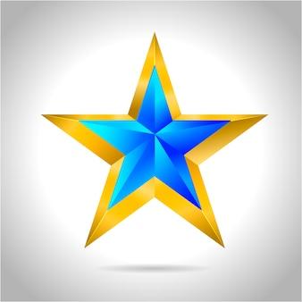 Fundo abstrato da estrela. formas de estrelas sobrepostas em azul ano novo natal