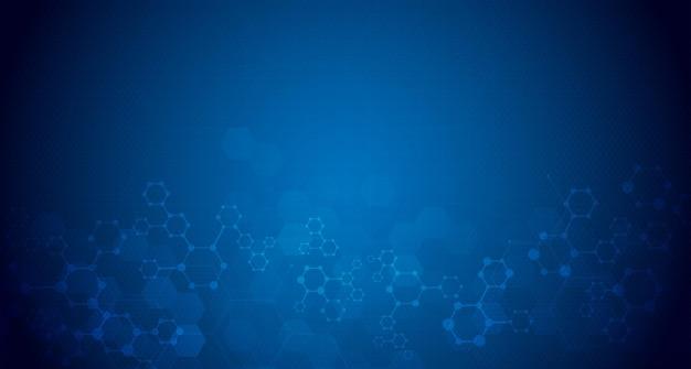 Fundo abstrato da estrutura da molécula pesquisa médica, química, ciência, biotecnologia