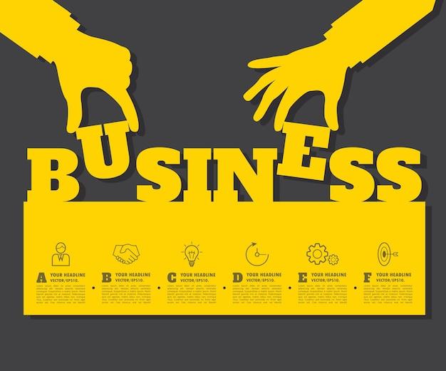 Fundo abstrato da ideia. conceito para o seu negócio