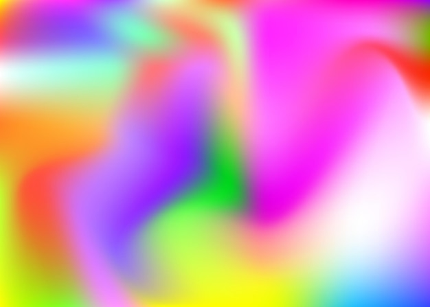 Fundo abstrato da malha de gradiente. cenário holográfico moderno com malha de gradiente. estilo retro dos anos 90, 80. modelo gráfico pearlescent para folheto, banner, papel de parede, tela do celular.