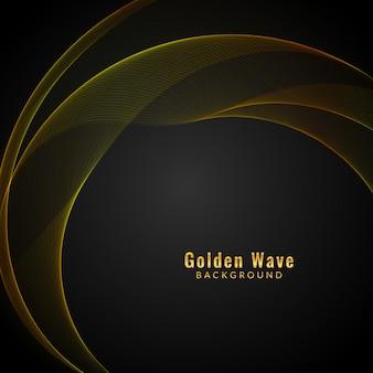 Fundo abstrato da onda dourada