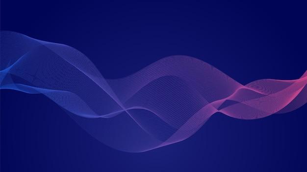 Fundo abstrato da onda. fita colorida curva linear moderna.