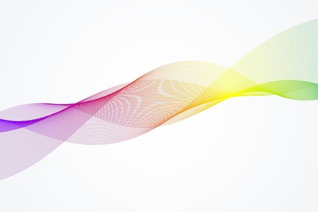 Fundo abstrato da onda. modelo geométrico para seu design de brochura, folheto, relatório, site, banner. ilustração vetorial
