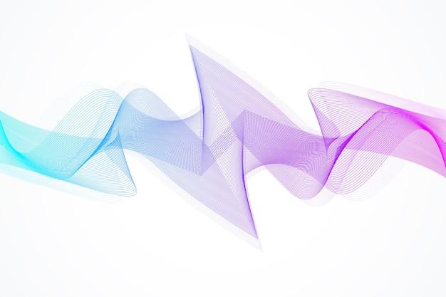 Fundo abstrato da onda. modelo geométrico para seu design de brochura, folheto, relatório, site, banner. ilustração vetorial.