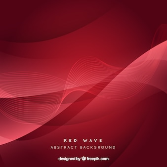 Fundo abstrato da onda vermelha