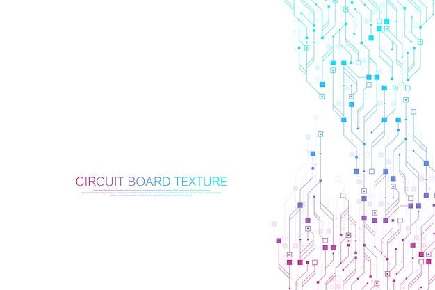 Fundo abstrato da placa de circuito