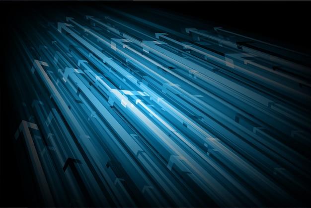 Fundo abstrato da seta azul.