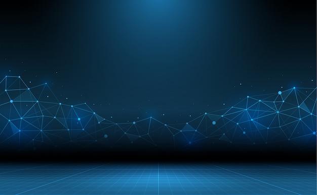 Fundo abstrato da tecnologia. ciência e tecnologia de conexão
