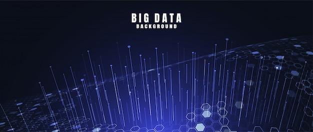 Fundo abstrato da tecnologia com dados grandes. conexão de internet