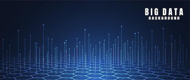 Fundo abstrato da tecnologia com dados grandes
