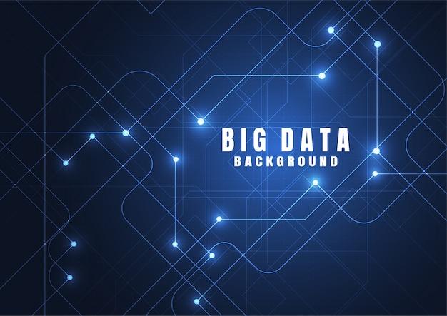 Fundo abstrato da tecnologia com dados grandes.