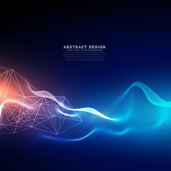 Fundo abstrato da tecnologia com efeito da luz
