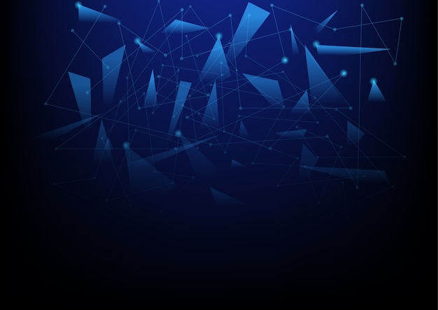 Fundo abstrato da tecnologia com triangular