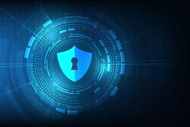 Fundo abstrato da tecnologia digital da segurança.