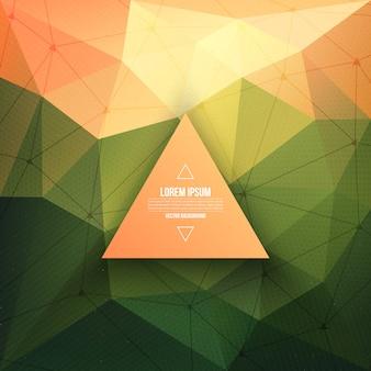 Fundo abstrato da tecnologia do vetor 3d com estrutura do triângulo e do wireframe