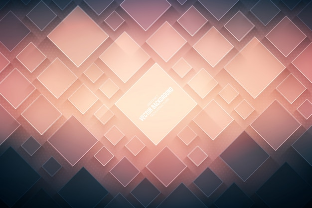 Fundo abstrato da tecnologia do vetor. estrutura geométrica 3d tecnológica