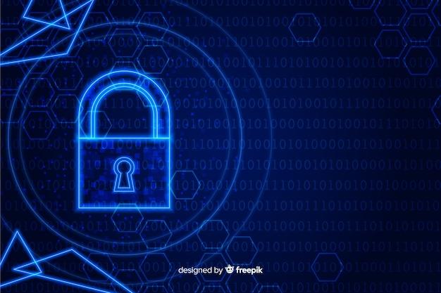 Fundo abstrato da tecnologia segura