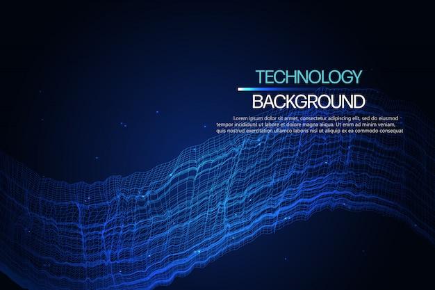 Fundo abstrato da tecnologia.