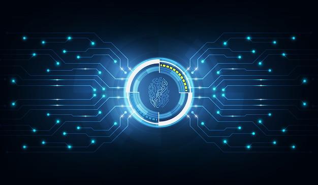 Fundo abstrato da tecnologiasistema de segurança com impressão digital sinal de letra p