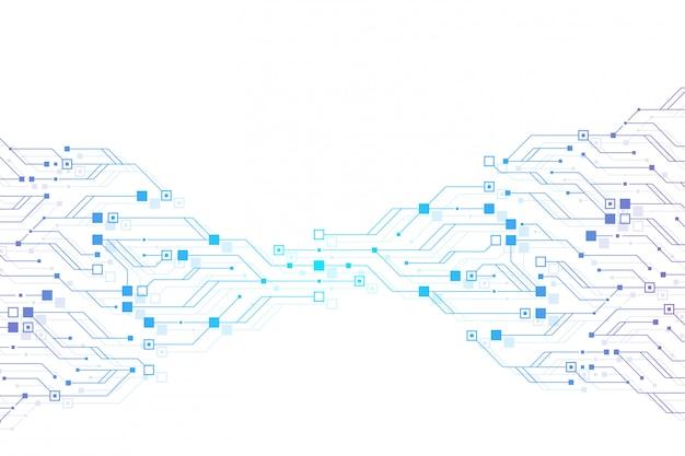 Fundo abstrato da textura da placa de circuito da tecnologia. placa de circuito futurista de alta tecnologia. dados digitais. placa-mãe eletrônica de engenharia. big data de matriz mínima