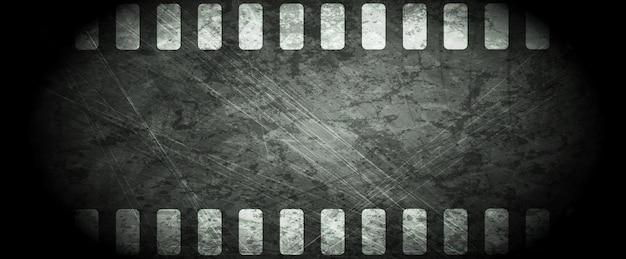 Fundo abstrato da tira de filme escura do grunge. desenho vetorial