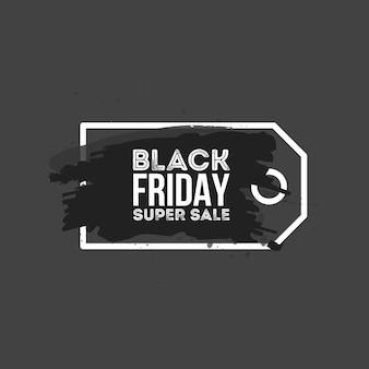 Fundo abstrato da venda de sexta-feira negra. etiqueta de preço do grunge pincel aquarela. ilustração vetorial para a sua arte de negócios.