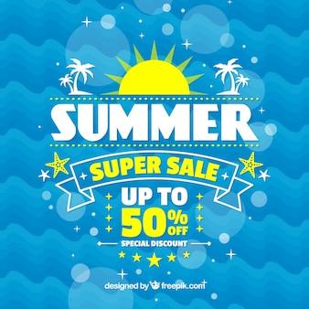 Fundo abstrato da venda do verão