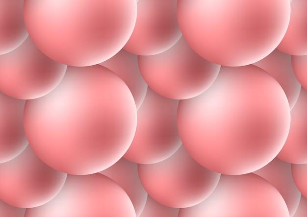 Fundo abstrato das esferas 3d. ilustração do vetor de formas dinâmicas brilhantes