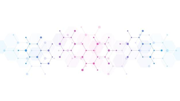 Fundo abstrato das moléculas.