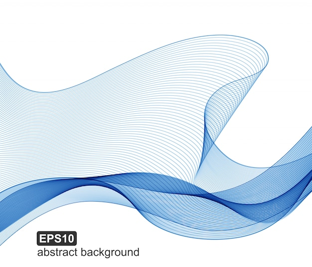Fundo abstrato das ondas do azul do vetor.