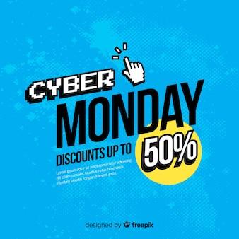 Fundo abstrato das vendas de segunda-feira do cyber