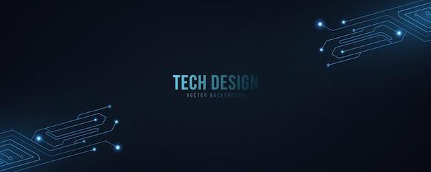 Fundo abstrato de alta tecnologia com circuito de computador