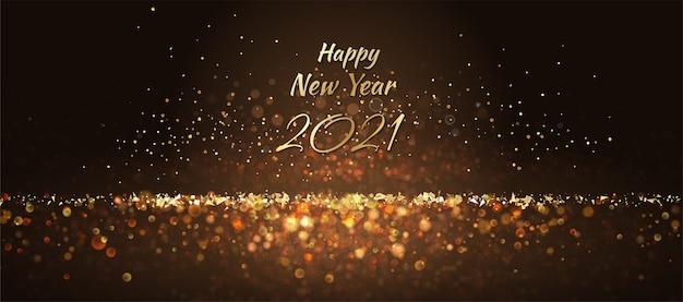 Fundo abstrato de ano novo com luzes brilhantes e faíscas