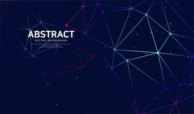 Fundo abstrato de ativação de rede